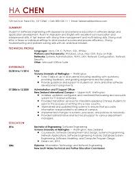 Template Professional Entry Level Software Engineer Templates To