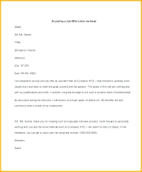 Letter Of Offer Template Employer Counter Letter Template Offer Acceptance Email