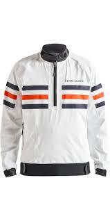 2019 Henri Lloyd Mens Fremantle Stripe Gore Tex Smock Cloud White P191101003
