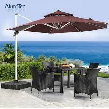 outdoor umbrella cantilever patio with