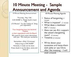 munites of meeting 10 minute meetings