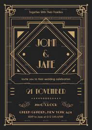 Great Gatsby Invitation Template Great Gatsby Vector At Getdrawings Com Free For Personal