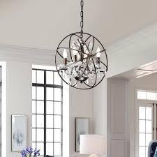 sphere chandelier bronze 4 light antique bronze vintage sphere fixture globe crystal chandelier home office ideas