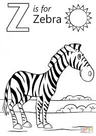 Small Picture Zebra without stripes coloring page