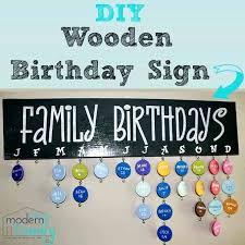 diy birthday calendar wooden family