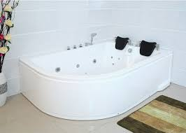 l whirlpool bath tub bali 180x120 cm for right corner with 14 massage jets fittings