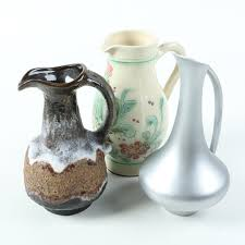 Decorative Ceramic Pitchers Decorative Ceramic Pitchers and Pewter Pitcher EBTH 11