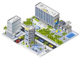 Hotel Design Concept Luxury Hotel Buildings Isometric Design Concept Download