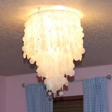 making house home diy faux capiz shell chandelier