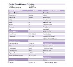 Trip Schedule Template Travel Schedule Template Excel Printable Schedule Template