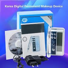 permanent makeup digital premium charmant style tattoo makeup machine pen intelligent control panel spiral interface cartridge