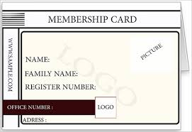 25 Membership Card Templates Word Psd Ai Publisher Indesign