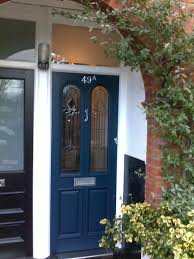 front door drawing. Farrow And Ball - Drawing Room Blue (Eggshell) |Triple Glazed Leaded Unit||V Front Door
