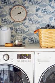 Laundry Room_Emily Henderson_Big Wave Wallpaper_Blue_LG_Detail_5