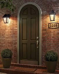 front door lightlights flanking front door  House Design