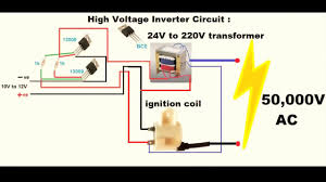 make an inverter high voltage 12v dc to 50000v ac youtube 220V Three-Phase Wiring-Diagram 220v Transformer Wiring Diagram #40