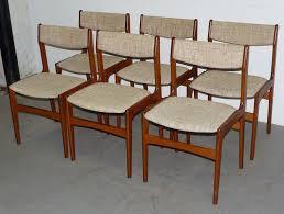 6 vine mid century danish modern solid teak side dining chairs 0515003 danishmodern happyviking
