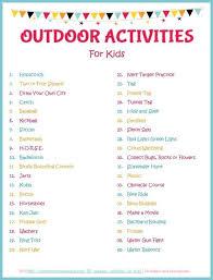 outdoor activities for kids. Save Outdoor Activities For Kids