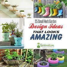 25 small herb garden design ideas that