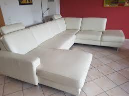 Echt Leder Couch Weiß Wohnlandschaft In 67259 Heuchelheim