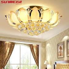 lotus flower lamp shade lotus flower modern ceiling light with glass lampshade gold ceiling lamp for