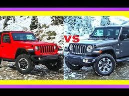 2018 jeep wrangler sahara vs 2018 jeep wrangler rubicon jeep wrangler 2 door vs 4 door