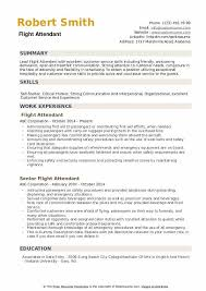Sample Resume For Flight Attendant Flight Attendant Resume Samples Qwikresume