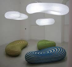 organic lighting fixtures. Milan, Salone, International Furniture Fair, David Trubridge, Spiral Island Collection, Sustainable Organic Lighting Fixtures