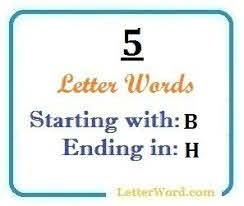 five letter words starting with b and