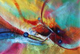 abstract paintinng  color game acrylic on canvas x painting