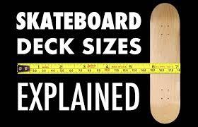 Skateboard Length And Width Chart Skateboard Deck Sizes Explained Stix Ride Shop