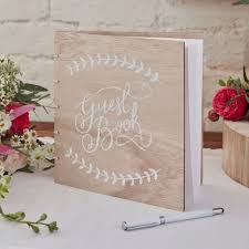 Wedding Guest Book Wooden Wedding Guest Book Boho Rustic Wedding