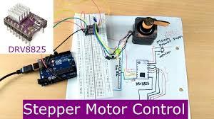 drv8825 stepper motor driver arduino tutorial