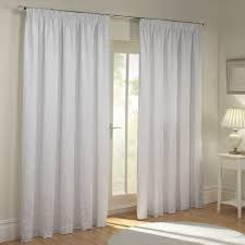 paisley white luxury jacquard lined pencil pleat curtains pair