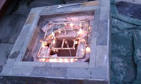 diy outdoor gas fireplace plans