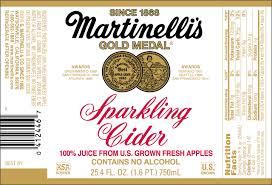 cur martinelli s sparkling cider label design 2017