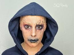 demon makeup and how to apply bald cap