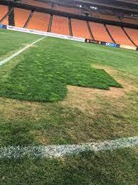الوداد يتهم كايزر تشيفز بتخريب أرضية ملعب نصف نهائي دوري أبطال أفريقيا..  صور : صحافة الجديد رياضة