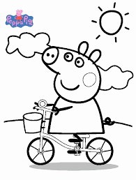 peppa pig coloring pages free printable coloring pages free