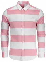 outfit on down striped shirt red and white l