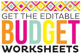 simple printable budget worksheet worksheet budgeting worksheets free grass fedjp worksheet study site