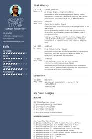 Senior Architect Resume Samples Visualcv Resume Samples Database