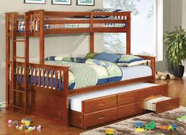 wildon home a cosmo twin bunk bed with trundle and storage image on amazing bunk bed trundle ikea desk storage twin over canada