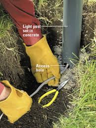 running underground wiring to lamp post light to be turned on with Wiring Gfci To A Lamp Post running underground wiring to lamp post light to be turned on with outside lighting! Wiring a Switch to a Light Fixture