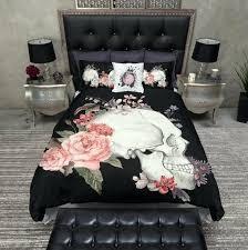 sugar skull duvet cover uk featherweight skull bedding flower skull love printed on cream comforter