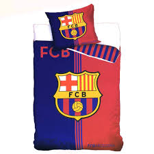 f c barcelona f c barcelona single two sided duvet cover blue red