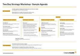 Free Download Strategy Meeting Agenda Creative Huddle