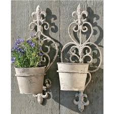 Wrought iron wall decor is easy to install and. Wall Flower Pots Ebay Uk Hanging Flower Pots Flower Pot Design Flower Pots