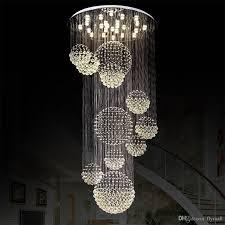 creative home design amusing modern large crystal chandelier light rain drop crystal sphere intended for