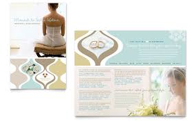 Wedding Store Supplies Brochure Template Word Publisher